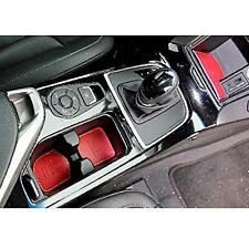 PYL Leather Tray Cup Holder Pad RED 5p 1Set For 12 Hyundai i40 Saloon