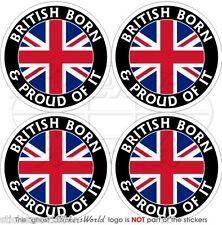 GROSSBRITANNIEN Britisch Geboren & Stolz Vinyl Sticker Aufkleber 50mm x4