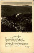 SCHWARZBURG Thüringen alte Gruss-AK 1928 Scheffel Verg Psalm alte Postkarte