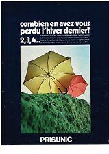 PUBLICITE ADVERSTISING  1969   MAGASINS PRISUNIC   parapluies