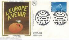 1985**ENVELOPPE SOIE**FDC 1°JOUR!!**CONSEIL DE L'EUROPE**TIMBRE Y/T 87