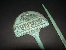 Vintage brass PARSLEY and OREGANO - herb - GARDEN MARKERS - 10 inches tall -sign