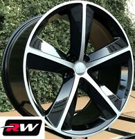 """20"""" RW Wheels for Dodge Charger Black Machined Rims 2009 Challenger SRT8 Style"""