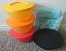 BRAND NEW TUPPERWARE STACK, SERVE 'N STORE & ZEN  BOWLS & MICROFIBRE CLOTH