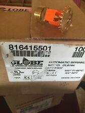 "Globe GL8164 Upright Sprinkler Head Brass 200°F 3/4"" NPT Standard (10 PCS) K8.1"