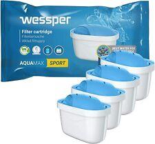 Wessper 4x SPORT Aquamax Wasserfilter Kartuschen komp. BRITA Maxtra WES003-SP
