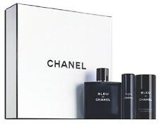 CHANEL BLUE De CHANEL 3 Piece Gift Set (3.4 oz EDT & 2 oz Deo, 0.7 oz Travel Sp)
