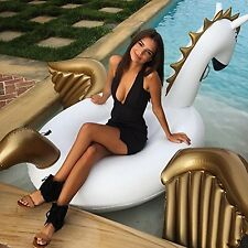 Giant Inflatable Unicorn Pegasus Floating Swimming Pool Beach Waterbed Party Toy