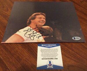 ROWDY RODDY PIPER SIGNED 8x10 PHOTO WRESTLING WWE WWF BECKETT BAS