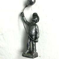 Vintage 1983 Michael Ricker Pewter Figurines Boy Balloon Bartlett Collectors 5""