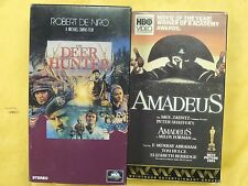2 Best Picture Winners VHS movies: Amadeus, The Deer Hunter