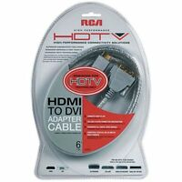 RCAs 6 foot HDMI To DVI Digital Video And Audio Cable
