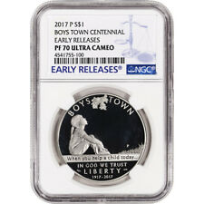 2017-P US Boys Town Commemorative Proof Silver Dollar - NGC PF70 Early Releases