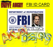 "Drive Angry ""The Accountant"" Replica FBI PVC ID Card COSPLAY or Customise"