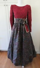 VINTAGE MARY MCFADDEN NORDSTROM COUTURE GOWN SHIMMERY FLORAL BUBBLE DRESS 8