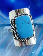 Anello alpaca argento Howlith blu pietre etnico INDIANA INCA MAYA STILE 2