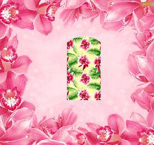 Blumen - 25, Fingernagel Wraps Abziehbilder Tattoo Sticker Decal Folie 14 Stk.