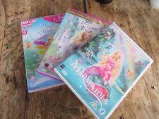 4 Number Girls BARBIE DVDs - Mermaidia etc.