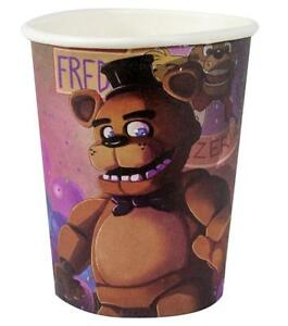 Five Nights at Freddy's Game Halloween Birthday Party 9 oz. Paper Cups