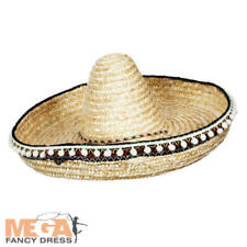 Deluxe Mexican Sombrero Hat Adults Fancy Dress Wild West Mens Costume Accessory