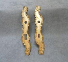2 Vintage FRENCH  bronze STYLISH KEY HOLE COVERS Plates