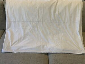 MATOUK Queen White With White Embroidery Duvet Cover Positano Sheets NWOT