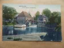 Old Unposted Postcard Writing on back Nordhorn Germany Partie  Wassermuhle