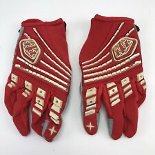 Troy Lee Designs Racing Gloves Unisex Adult X-Small / 7S Red & White      (#012)