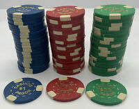 Lot of 60 Chips - Casinos Pagor - $1 $5 $25 Gaming Casino Chips