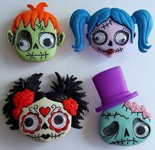 Demenziale ZOMBIE mostro di Frankenstein Halloween Goth Girl dress It Up Bottoni Craft