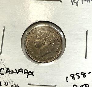 Canada Silver Queen Victoria 10 Cents obverse - eye-popping LOVE TOKEN!!