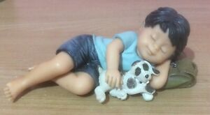Nadal Studio Figure Of A Boy And His Puppy Sleeping