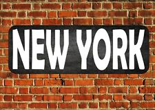 New York City Vintage Sign Retro Style Metal Sign Vintage Wall Plaque Room Sign