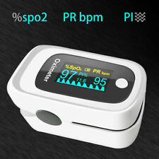 Finger Pulse Oximeter 4 Parameter SPO2 PR PI ODI 8 Hour Sleep Monitoring Curve
