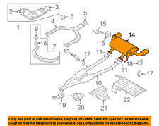 Infiniti NISSAN OEM 09-12 FX35 3.5L-V6-Muffler 201001CH0A