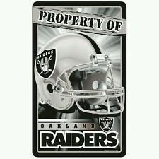 "OAKLAND RAIDERS ""PROPERTY OF"" SIGN FREE SHIPPING! Durable Poster"