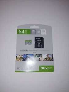PNY 64GB PRIME PERFORMANCE C10 MEMORY CARD WITH ADAPTER 85MB/S