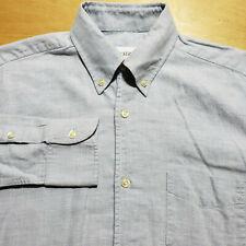 Our Legacy Heathered Melange Light Blue Cotton 1 Pkt Button Dwn Shirt S Portugal