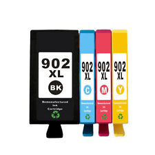 Reman Ink Cartridge 4 Pack for HP 902XL OfficeJet 6950 6954 6958 6962