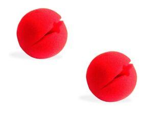 2 Stk. Clownnase Rot Clown Nase Karneval Red Nose Fasching Schaumstoffnase