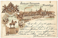 Germany 1897 postal stationery Leipzig exhibition picture postcard