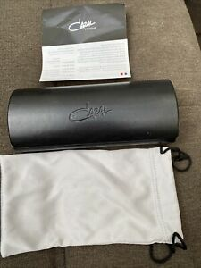 Cazal Black Clamshell Eyeglass Case, New Condition with Soft Pouch. Size Approx.