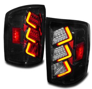 14-17 GMC SIERRA 1500/15+ 2500 3500 HD LED TAIL BRAKE LIGHTS LAMPS GLOSSY BLACK