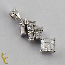Platnum diamante solitario CIONDOLO TDW = 1.40 kt,G colore,VS Clarity W/accenti
