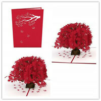 3D Pop Up Greeting Card Japanese Maple Birthday Anniversary Mother Day Card Gift