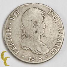 1818PTS PJ BOLIVIA 8R VF Silver Coin KM-84