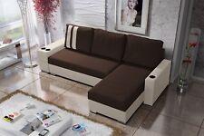 Ecksofa Sofa KNOX XL mit Schlaffunktion Creme/Dunkelbraun Otto. Rechts