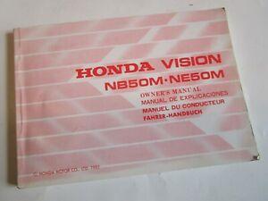 HONDA NB50M-NE50M VISION OWNERS MANUAL 36GN2610