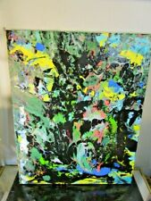 Modernist ABSTRACT Expressionist PAINTING MODERN Art musk yai 16x20 2018 NYC