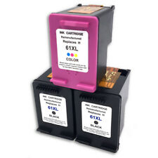 3PK For HP 61 XL Black Color Ink ENVY 4500 4501 4502 5530 5531 5535 CH563/4WN